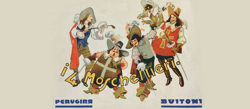 Nel 1934 Perugina® sponsorizza I Quattro Moschettieri, il programma radiofonico più seguito dagli italiani