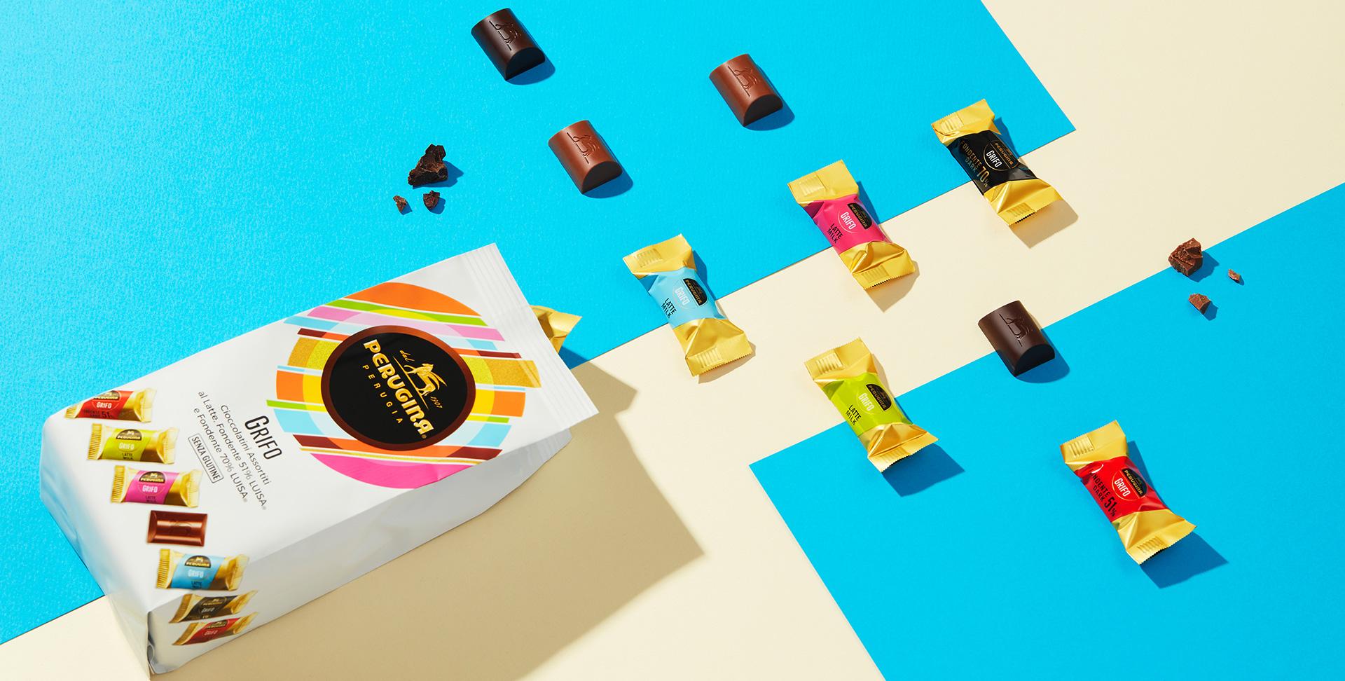 Cioccolatini Grifo al latte e fondente - Prodotti - Perugina.com 0df4206f445
