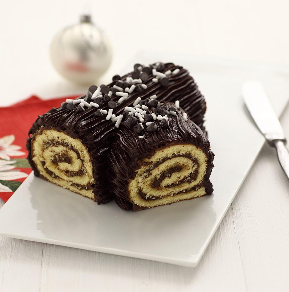 Tronchetto Di Natale Ricetta.Tronchetto Di Natale Con Crema Stracciatella
