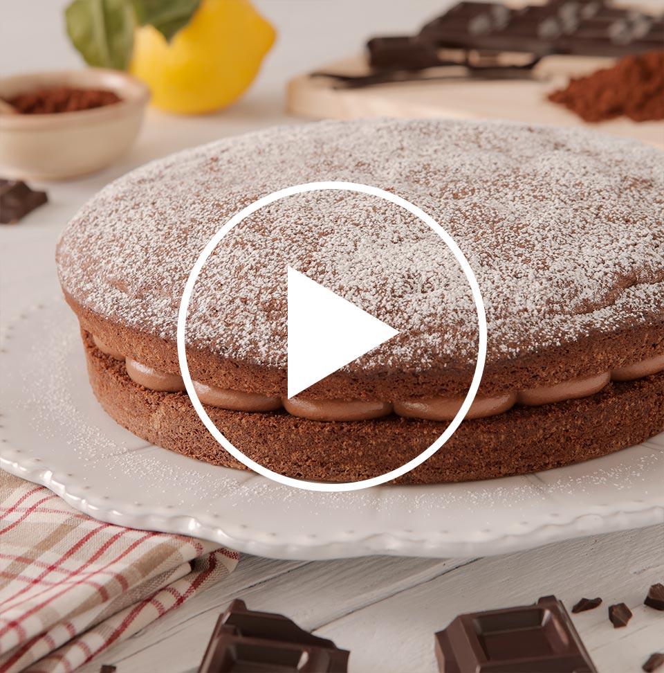 Ricetta Torta Al Cioccolato Farcita.Ricetta Torta Paradiso Al Cioccolato Fondente E Amarene Perugina Com
