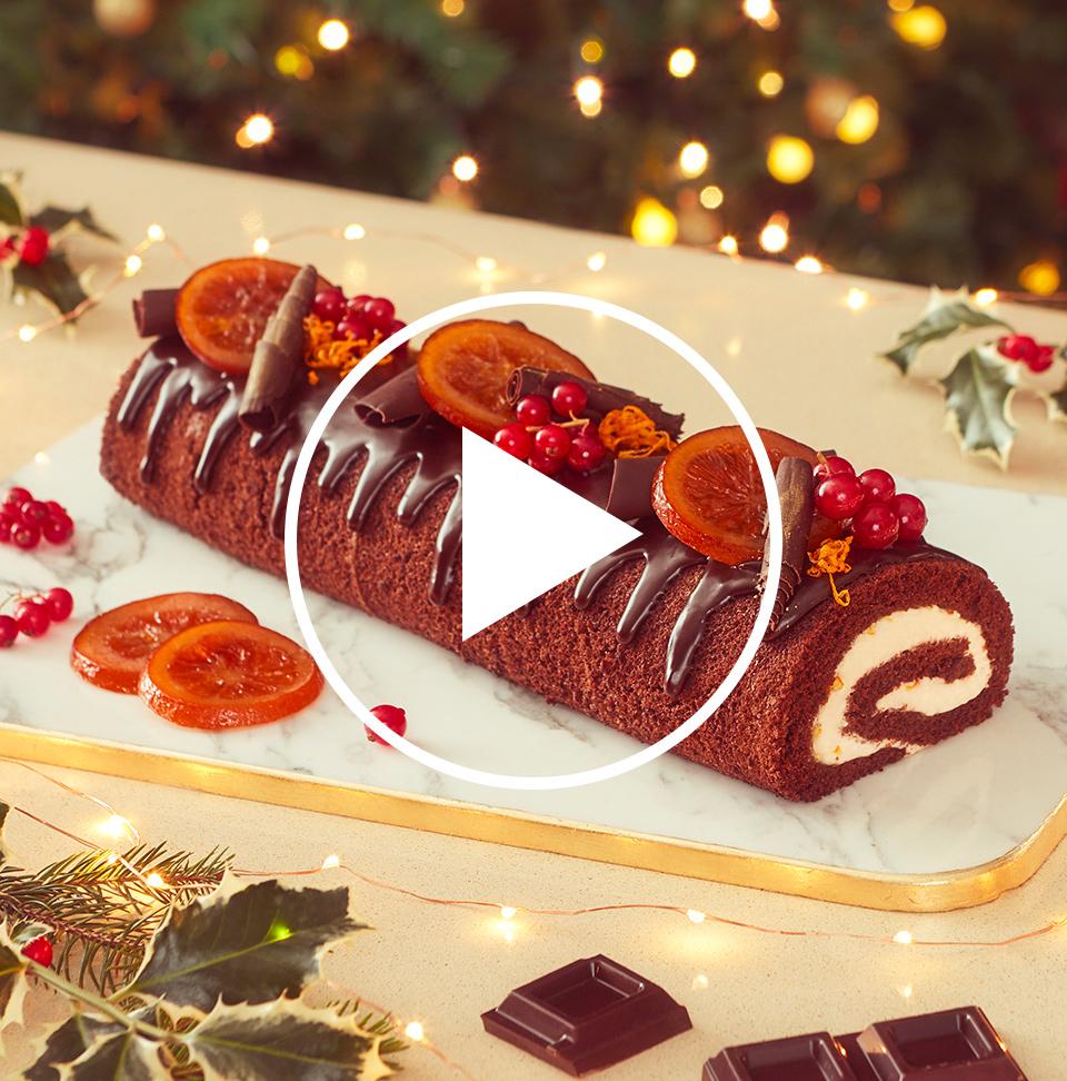 Immagini Dolci Natalizi.Ricetta Tronchetto Di Natale Cioccolato E Arancia Perugina Com